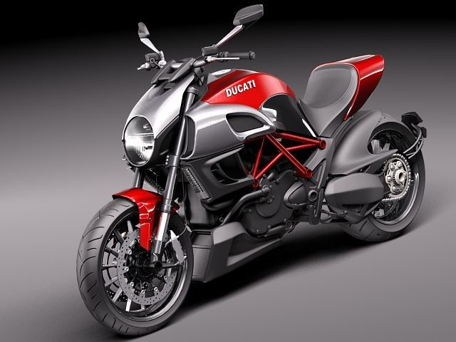 3d ducati diavel 2011 sport bike model