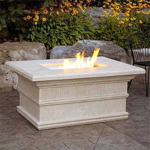 Modena Luxury Fire Pit Table with Flute Trim - WMCFPTF
