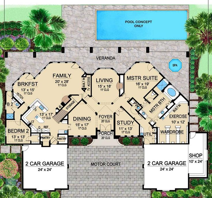 House Plan 5445 00155 Luxury Plan 4 674 Square Feet 4