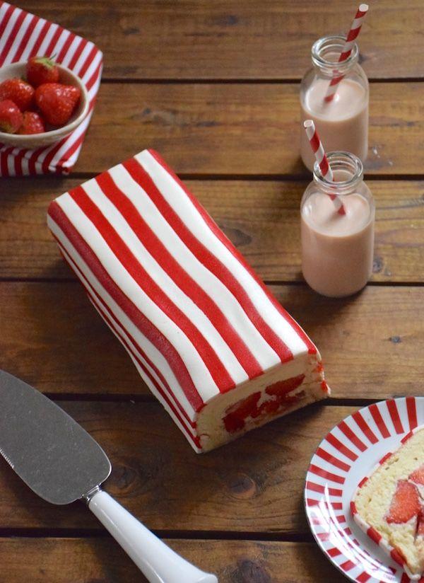 Pour cette 4ème émission du Meilleur Pâtissier, découvrez mon fraisier revisité à rayures inspiré du Biarritz de Fauchon ! C'est un délice !