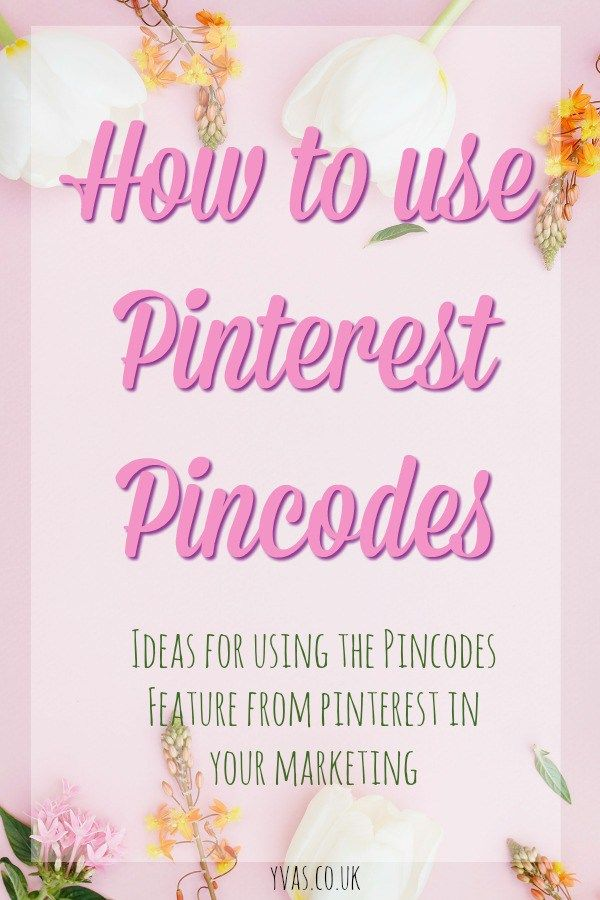 How to Use Pinterest Pincodes #pinterest #pinteresttips #pinterestmarketing #pinterestpincodes