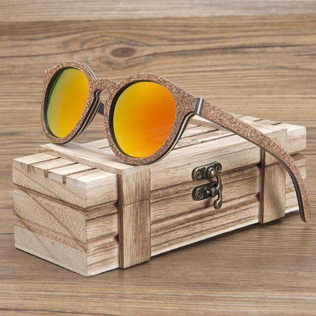 Daily Price $23.44, Buy BOBO BIRD Unisex Sunglasses Wooden Cork Frame Polarized Sun Glasses UV Protection oculos de sol feminino