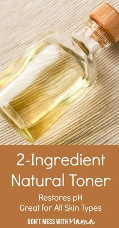 DIY 2-Ingredient Facial Toner - It's so easy to make your own face toner that will help to keep your skin pH balanced, clean and clear - Check out this tutorial to find out how - DontMesswithMama.com