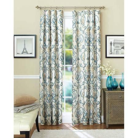 Better Homes And Gardens Ikat Scroll Curtain Panel · Living Room  CurtainsKitchen ...