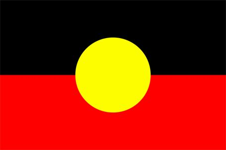 The Aboriginal flag. Red for the land, black for the people, yellow for the sun that gives life to both. Strong, simple, memorable.