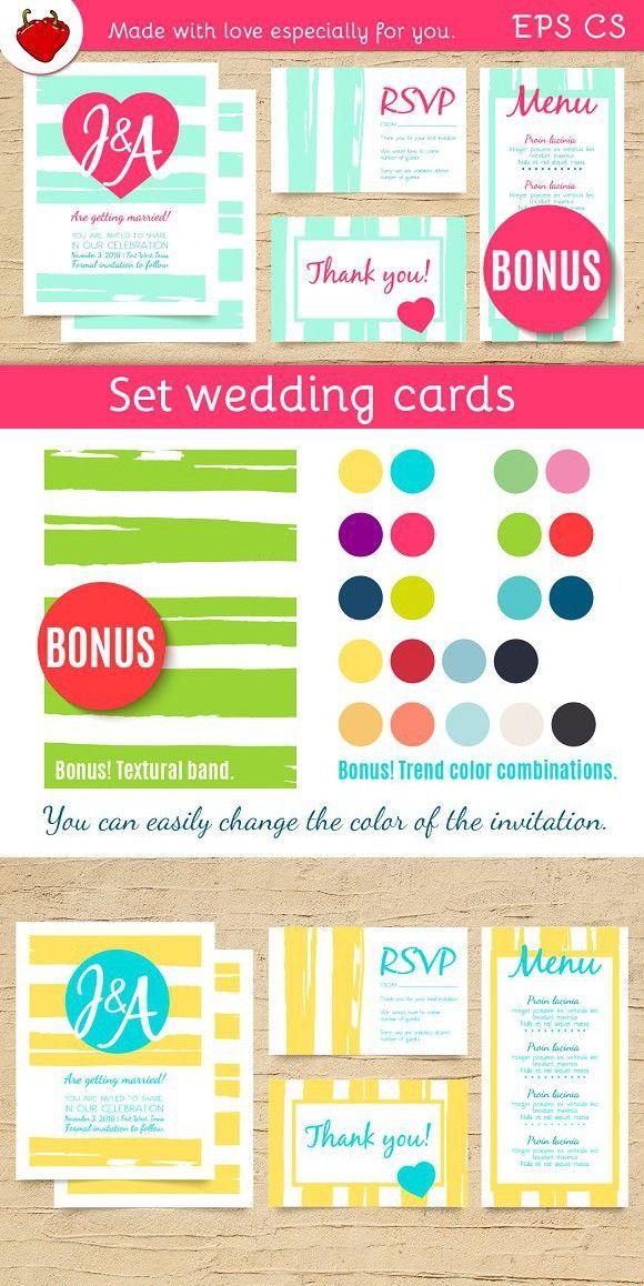 Wedding invitation trendly templates. Invitation Templates. $10.00
