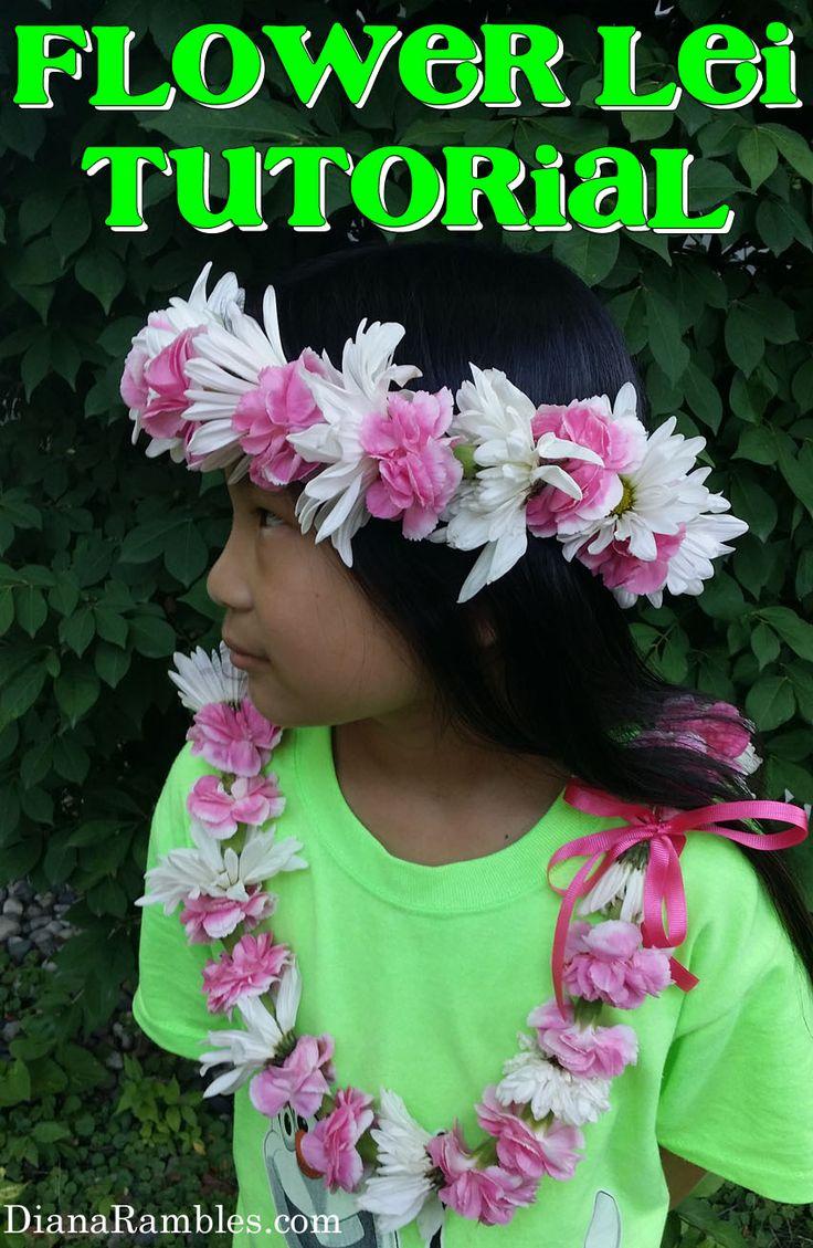 1039 best hawaii lei images on pinterest hawaiian islands hawaii diana rambles flower lei tutorial how to make flower lei with fresh flowers izmirmasajfo