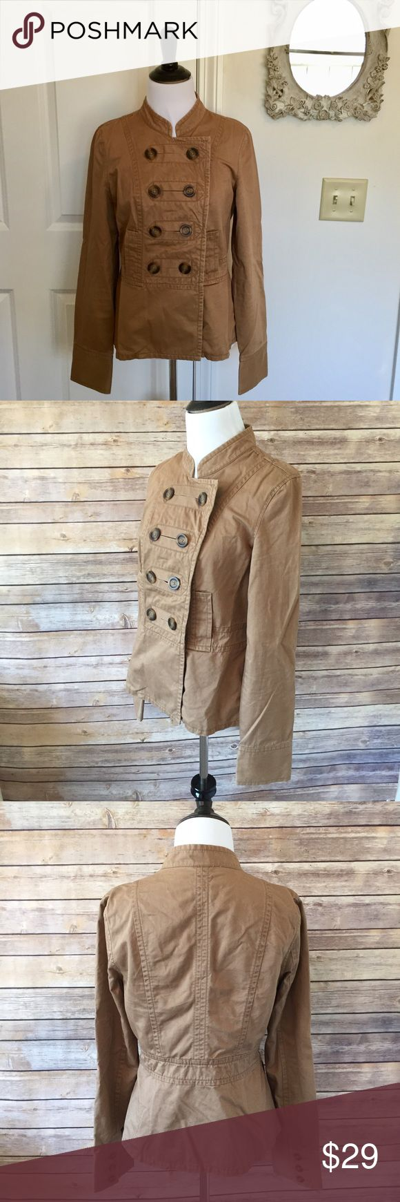 "⚡️️FLASH SALE!⚡️ OLD NAVY Jacket Gorgeous khaki jacket from Old Navy. Double buttons down the front. Size small. Faux front pockets. 100% cotton shell. 23"" long. Ask all your questions and let's get this perfect jacket home to you! Old Navy Jackets & Coats"
