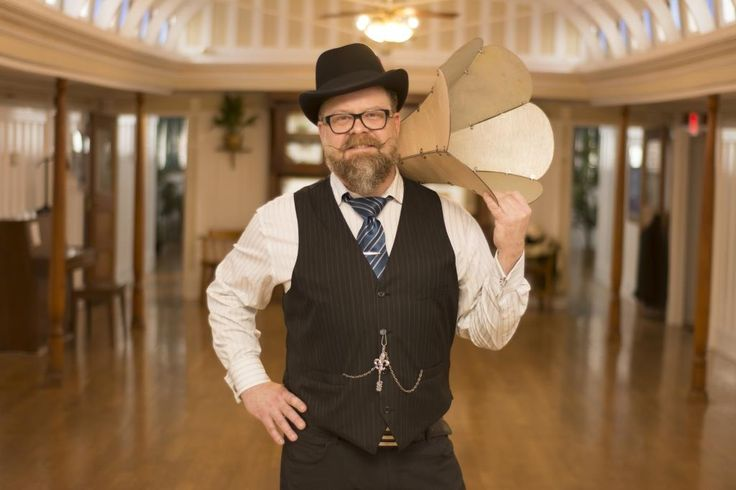 Tim Tweed (Dj Tencious T) with a custom made Gramaphone, ready for the Great Gatsby Party (2016).  Photos were taken by Callium Smith, a photographer based in Naramata BC