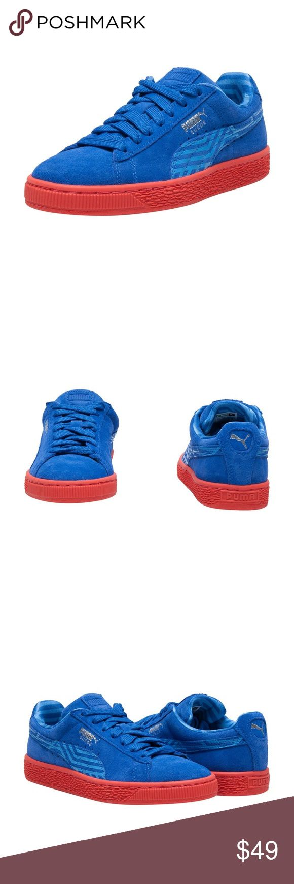 Women Puma Sneakers Suede classic sneaker Women's low top sneaker Lace up closure PUMA cat logo branding Cushioned inner sole for comfort Traction rubber outsole for performance Puma Shoes Sneakers