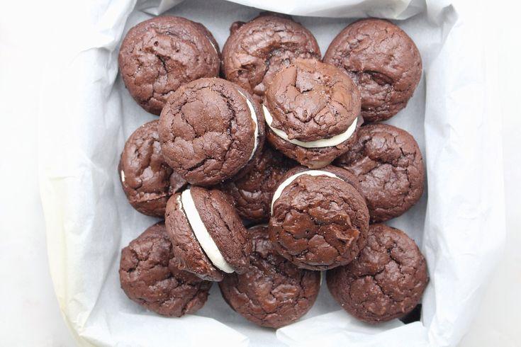 Mocha Brownie Sandwich Cookies