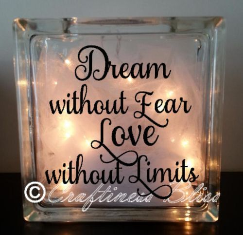 Dream Without Fear Love Without Limits: 17 Best Images About Glass Blocks On Pinterest