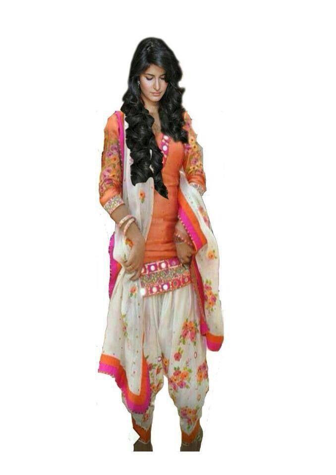 Orange white punjabi suit simple yet elegant ❤️SRandhawa