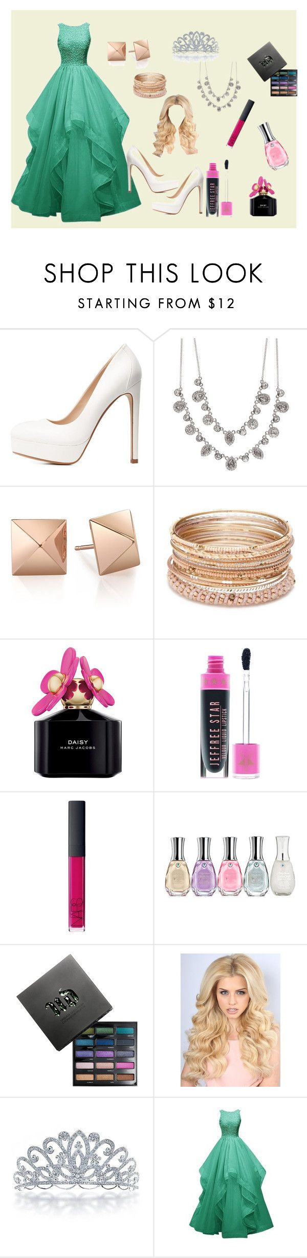"""entrega de Oscars"" by paulapirez ❤ liked on Polyvore featuring Charlotte Russe, Givenchy, Red Camel, Marc Jacobs, NARS Cosmetics, Sally Hansen, Urban Decay and Bling Jewelry"