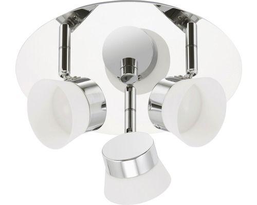 BRILONER LED Badkamer plafondlamp Surf 3-lichts 3x4,5W rond Ø 250 mm chroom Energieklasse A+ kopen bij HORNBACH