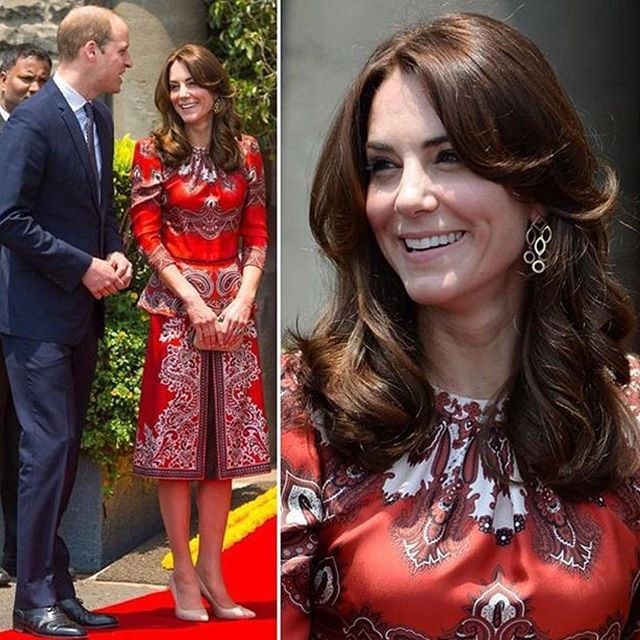 Catherine, Duchess of Cambridge During Her Visit To India