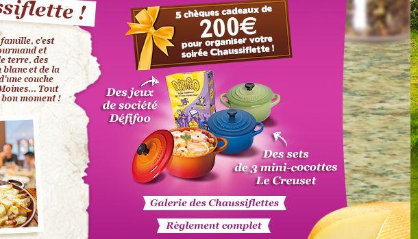 Cocottes Le Creuset et chèques cadeaux Cadhoc à gagner