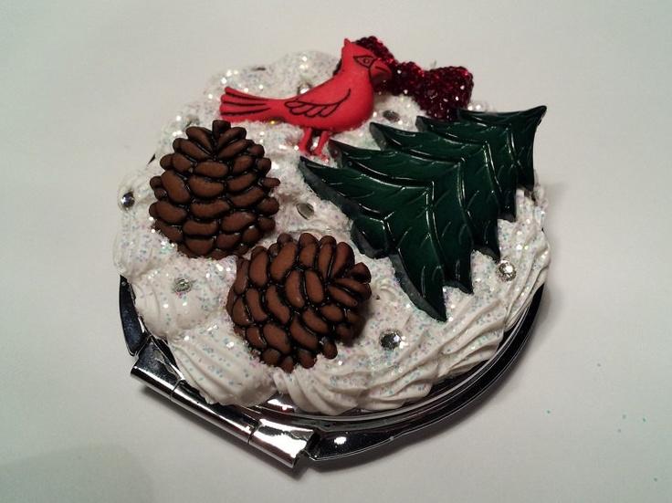 Winter Wonderland Decorated Mirror Compact. $9.00, via Etsy.