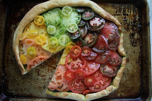 heirloom tomato pizza rainbow