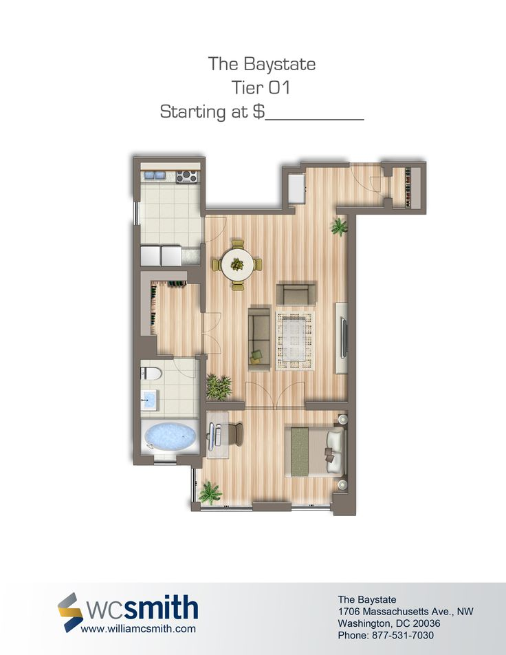 one bedroom floor plan the baystate in northwest washington dc wc