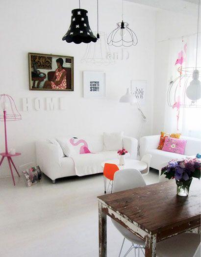 La decoración en blanco, permite que los objetos tomen protagonismo