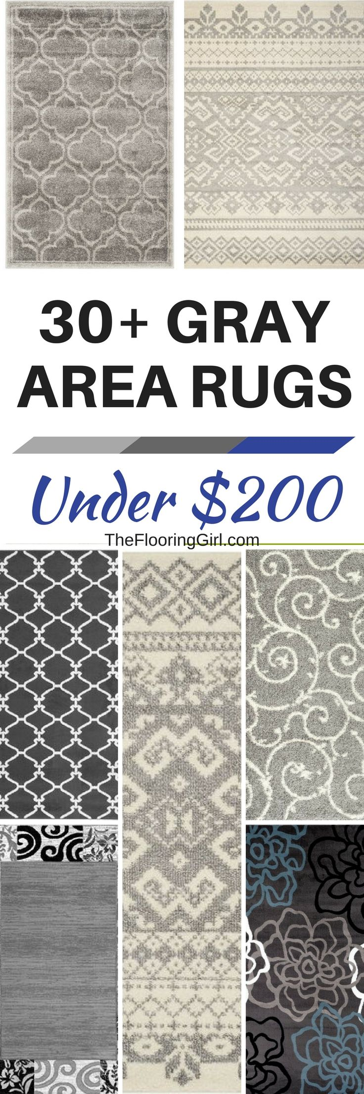 30+ Gray Area Rugs For Under $200. Where To Buy Inexpensive And Affordable  Gray