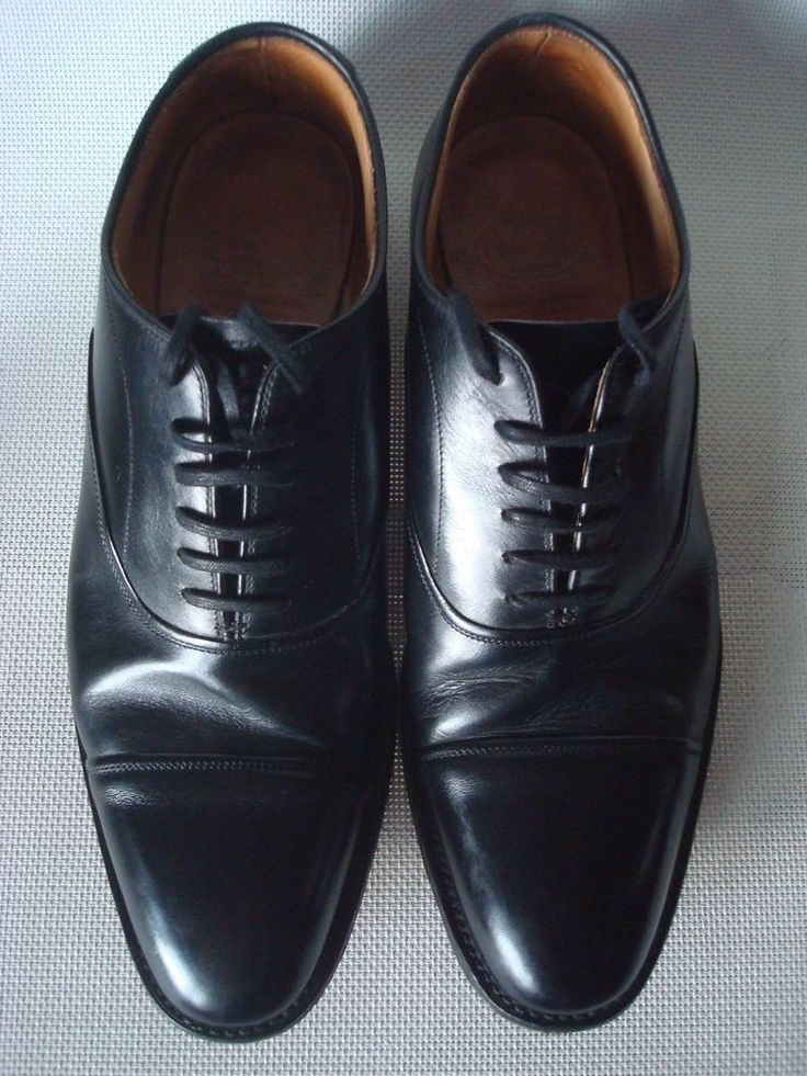 Church's Lingfield Plain Cap Toe Oxford Black Shoes UK 8 F 80F