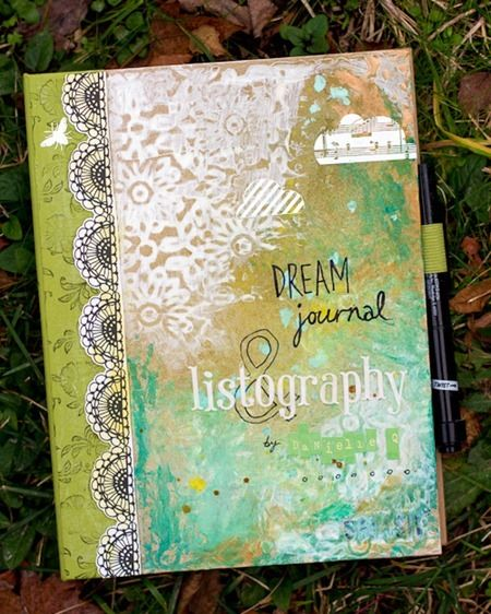 Dream Journal diy art journal painting collage mixed media art inspiration