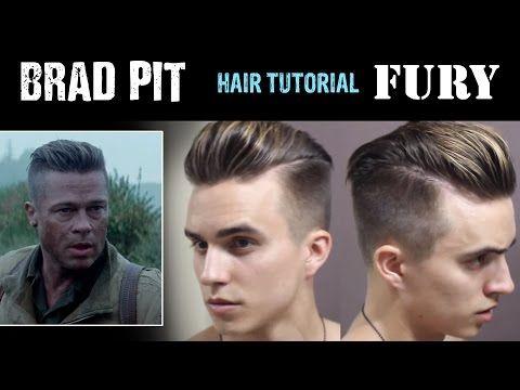 Brad Pitt Hair Tutorial from FURY   DRE DREXLER - YouTube