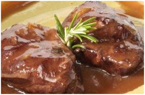 El Fogón de la Perla Gris: Solomillo de cerdo al horno con salsa de Oporto