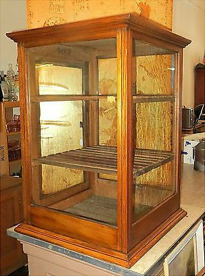 nice antique oak general store countertop display case cabinet bakery wakarusa