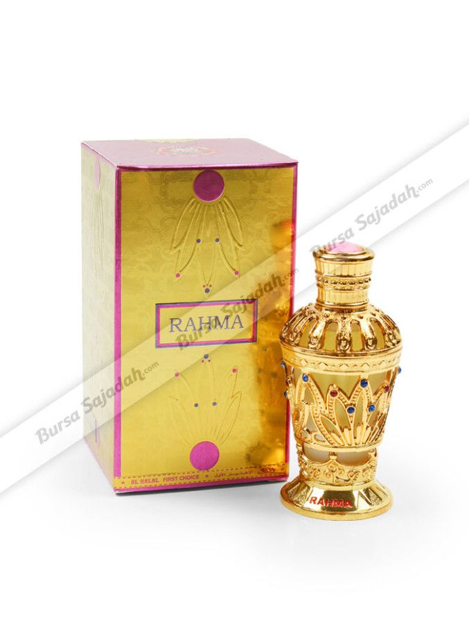 Al Halal Rahma, parfum khas Timur Tengah untuk wanita ini dibuat dari campuran red & white rose yang didampingi dengan harum white jasmine, citrus, serta lemon yang terasa manis & menyegarkan. Dikemas dalam botol dengan desain chic berwarna gold yang elegan, menjadikan Al Halal Rahma sangat ideal untuk dijadikan pemberian istimewa untuk keluarga atau teman Anda.