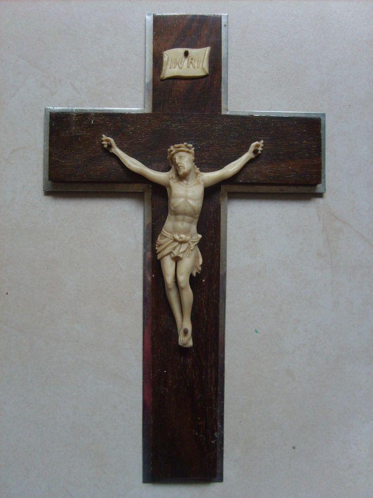 Ancien Crucifix Croix Catholique EN Bois ET Métal DE 31 5 CM | eBay