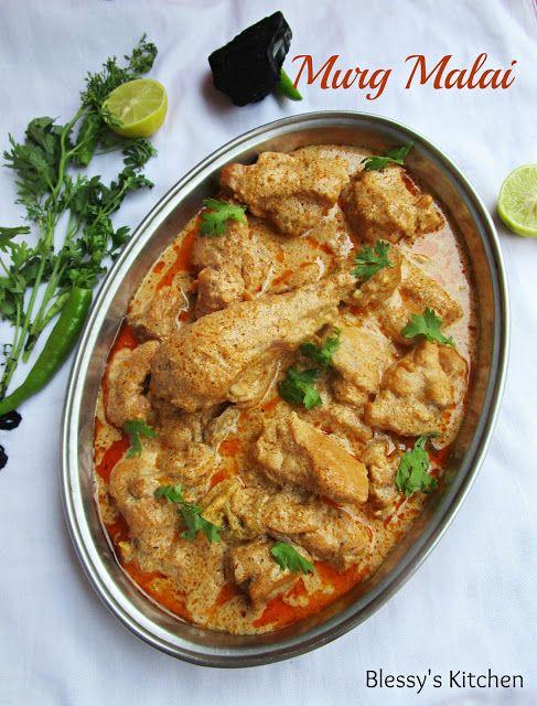 Blessy's Kitchen: Murgh Malai Curry/ Smoked Murg Malai Curry/ Mughla...