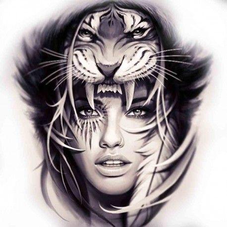 Tattoo Temporaire Femme Tigre Projet Bd Tattoos Tattoo