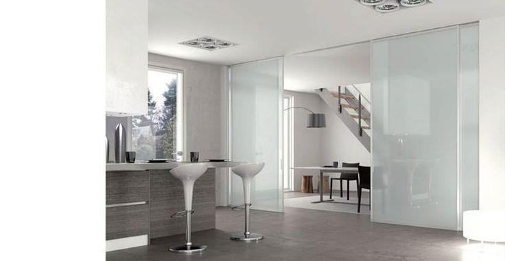 porte scorrevoli vetro cucina - cerca con google | parete in vetro ... - Porte In Vetro Decorate Moderne