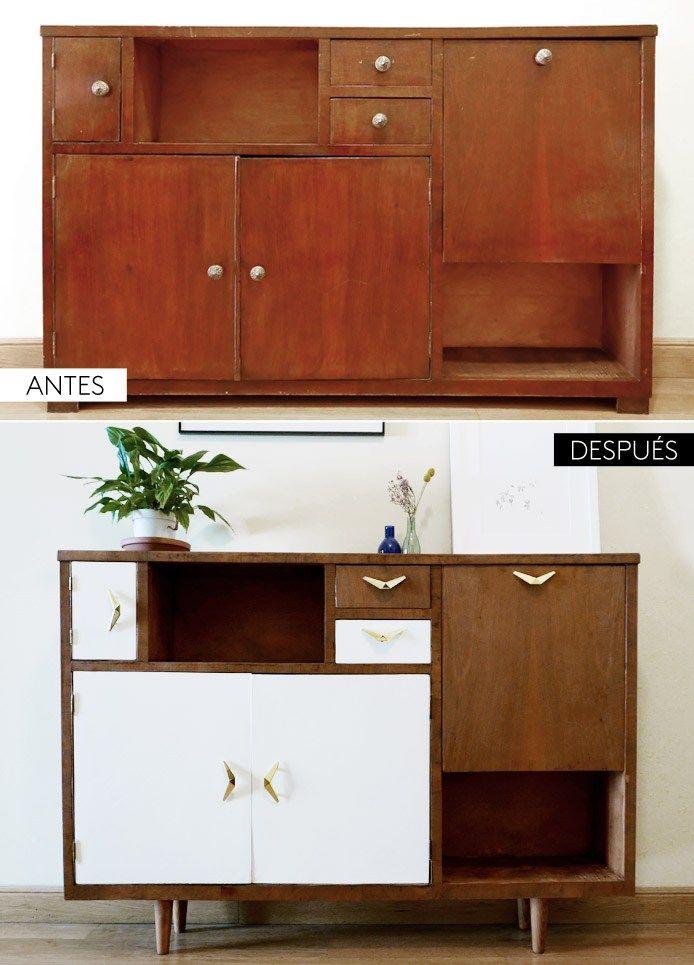 Antes Y Despues De Un Mueble Renovado Muebles De Cocina Rusticos Renovacion De Muebles Muebles