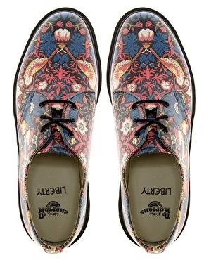 Asos Dr Martens. Liberty London. William Morris.