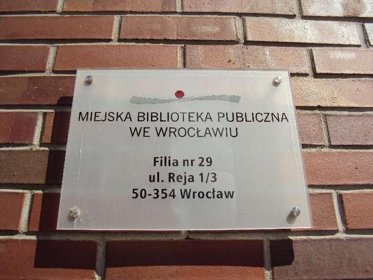 Filia 29 MBP we Wrocławiu, ul. Reja 1/3
