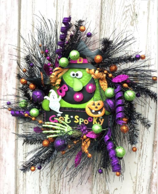 Halloween Witch wreath                                                                                                                                                                                 More