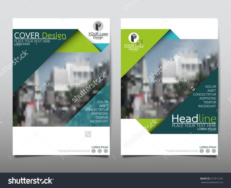 Green Triangle Annual Report Brochure Flyer Design Template Vector, Leaflet Cover Presentation Abstract Geometric Background, Layout In A4 Size - 417011341 : Shutterstock