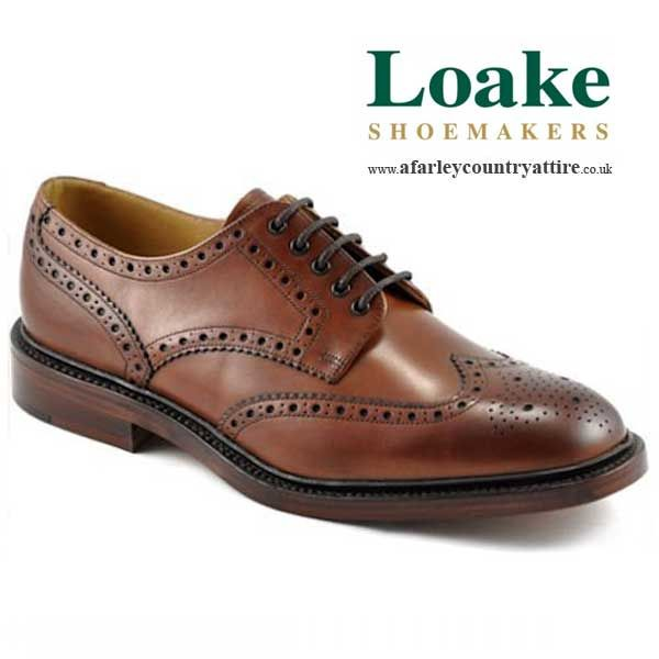 Loake Shoes - Chester - Derby Country Brogue - Brown - available to buy  online at