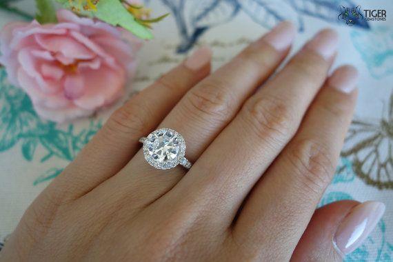 jordans air max cheap 2 Carat Round Halo Gatsby Engagement Ring D by TigerGemstones
