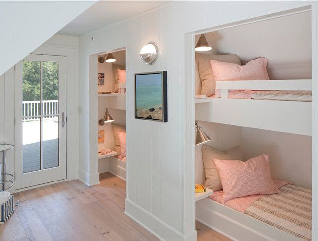 Love these bunk spaces Transitional Small Home with Coastal Interiors