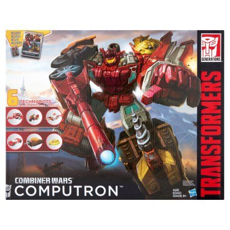 Hasbro Transformers Generations Combiner Wars Computron Technobots Toys 6 Figures, Multicolor