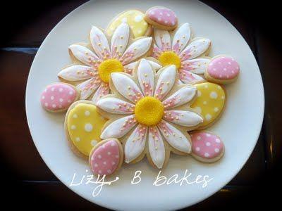 Lizy B - Easter cookies http://lizybbakes.blogspot.com/2011/04/easter-bunnies-flowers-andcadbury-eggs.html