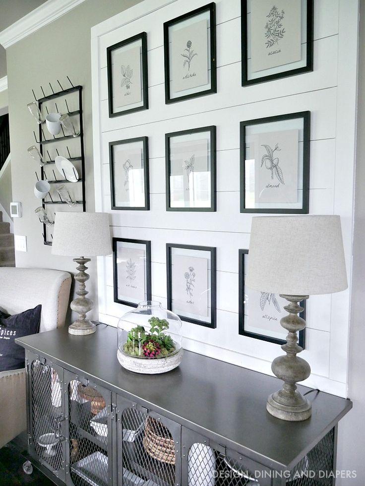 modern farmhouse vignette - Modern Style Home Decor