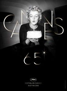 Lovely photo of Marilyn Monroe on the official 65th Cannes Film Festival poster.