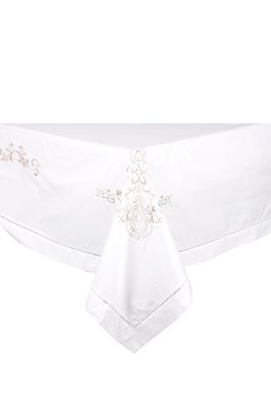 """100% Cotton embroidered tablecloth with floral detail, has a hole stitch border and is highly durable to add to your elegant table setting. Suitable for 8 to 10 table seater tables<div class=""""pdpDescContent""""><BR /><b class=""""pdpDesc"""">Dimensions:</b><BR />L270xW180 cm<BR /><BR /><b class=""""pdpDesc"""">Fabric Content:</b><BR />100% Cotton<BR /><BR /><b class=""""pdpDesc"""">Wash Care:</b><BR>Gentle cycle cold wash</div>"""
