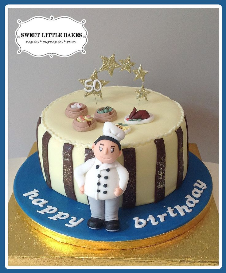 50th birthday cake for a chef adult birthday cake ideas for Adult birthday cake decoration
